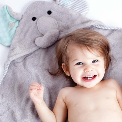 Serviette de bain bébé Ellie l'éléphant