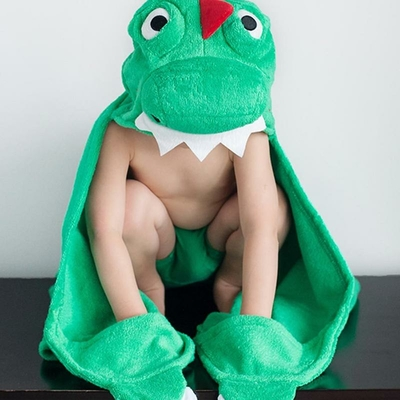 Serviette de bain enfant Devin le dinosaure