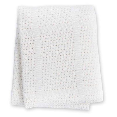 Couverture tricot blanche