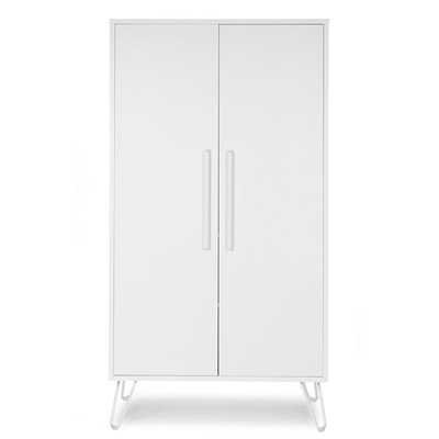 IRONWOOD WHITE GARDEROBE 2 PORTES