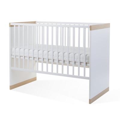 PALMA WHITE/OAK LIT CAGE 60x120 + SOMMIER & LATTES 90x200