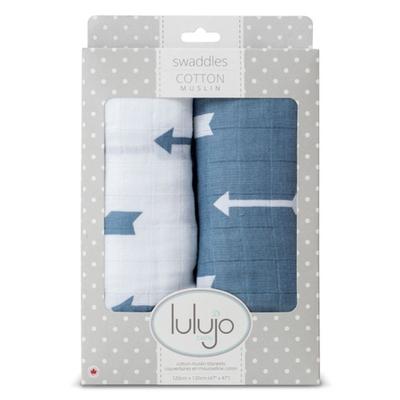 Lange Mousseline pack de 2 - flèches bleues