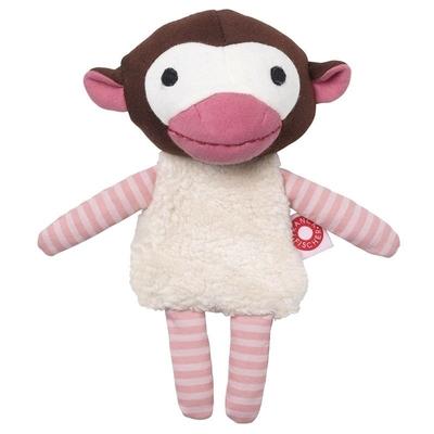 Doudou Trisse le singe rose