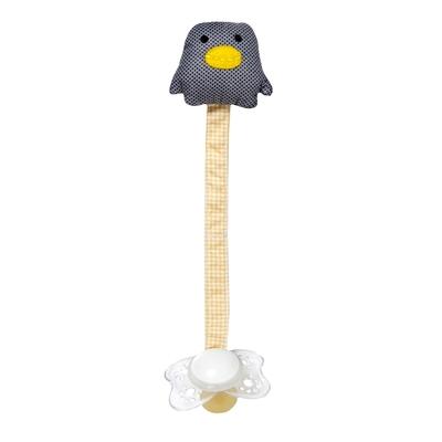 Accroche tétine pingouin