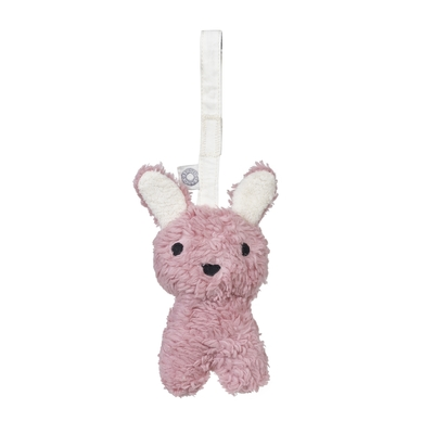 Hochet Louise lapin rose