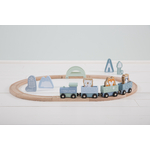 4423 - wooden train track - blue 4