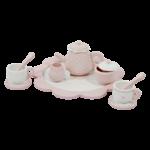 4381 - wooden tea set - pink 2