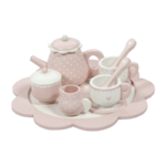4381 - wooden tea set - pink 1