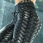 New-Hot-Ventes-Irenweave-Leggings-Tissage-Imprim-Cravate-Femmes-Fitness-Workout-Scrunch-Butin-Leggings