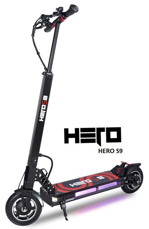 Trottinette électrique Hero S9 en 13 ampères