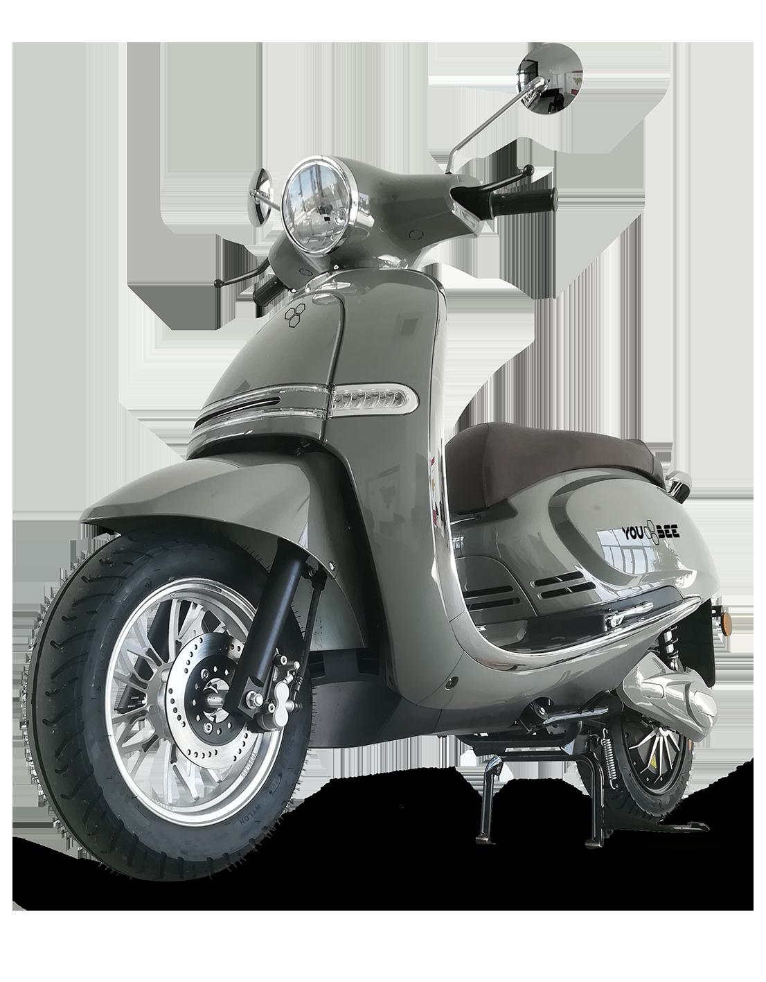 scooter électrique Heritage 50 de profile en gris