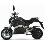 Moto électrique E Ghost en noir vue de côté