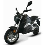 Moto électrique E Ghost coloris noir vue de côté