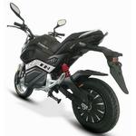 Moto électrique E Ghost coloris noir vue de larrière