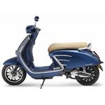 B scooter tilscoot bleu mat vu de profile