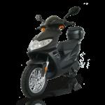 scooter Rsx 50 de youbee en noir avec top case en option