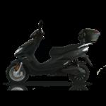scooter Rsx 50 de youbee de profile avec son top case