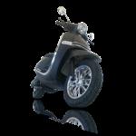 scooter électrique Heritage 50 de devant en noir
