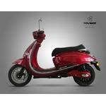 scooter Youbee Heritage 80 en rouge et de profil