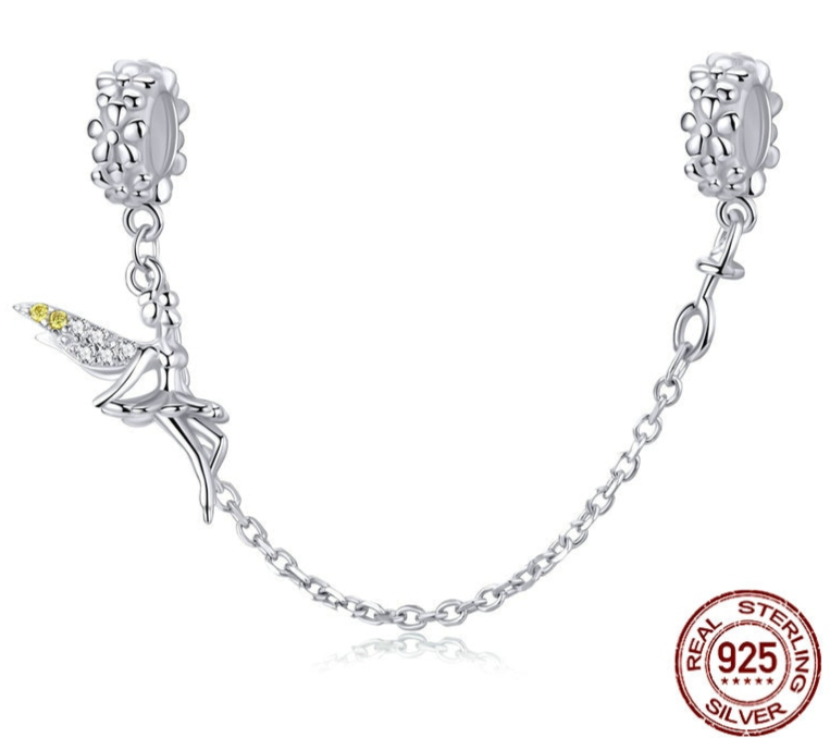 Chaine de confort FEE - Argent 925 & Zircon Cubique - Pour bracelet à charms