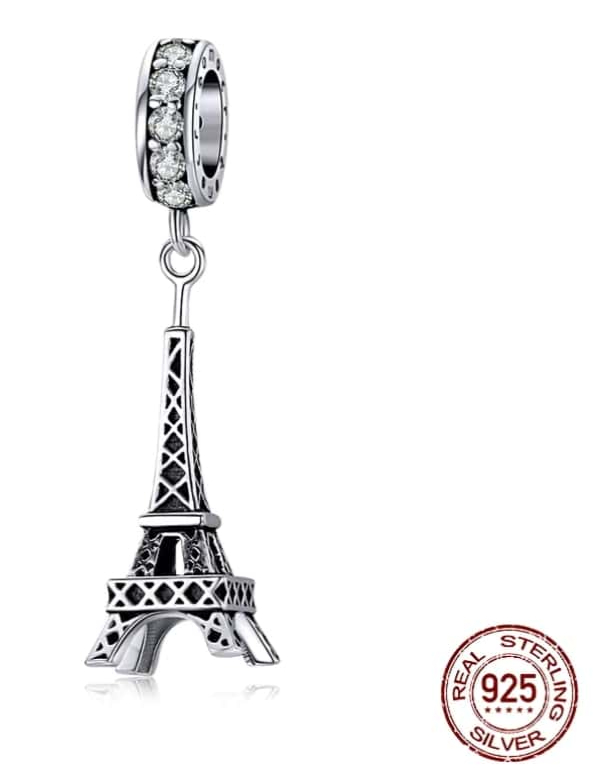 Charm Pendentif - TOUR EIFFEL - Argent 925 - Pour bracelet & Collier