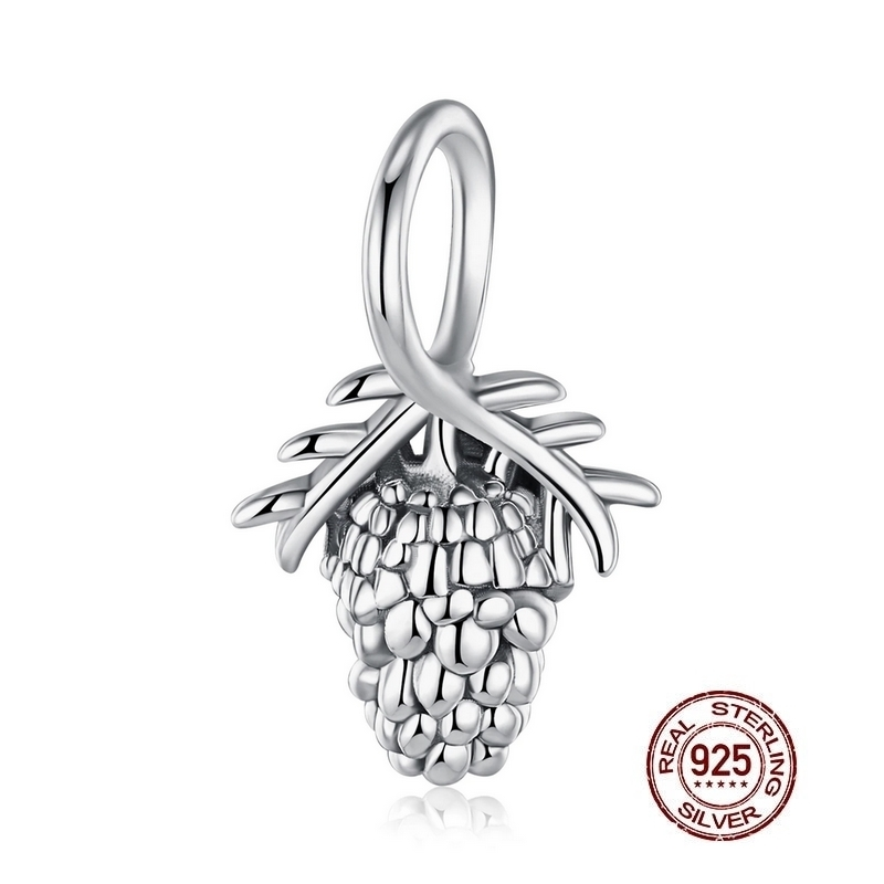 Charm pendentif POMME de PIN - Argent 925 - Pour bracelet & Collier
