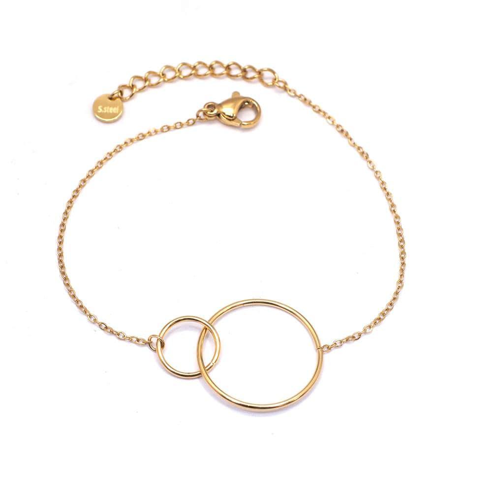 Bracelet ANNEAUX ENTRELACÉS - Acier Inoxydable - Ikita Paris-min