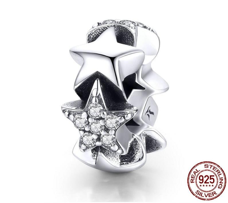 Espaceur BELLE ÉTOILE - Argent 925 - Zircon Cubique - Pour bracelet & Collier