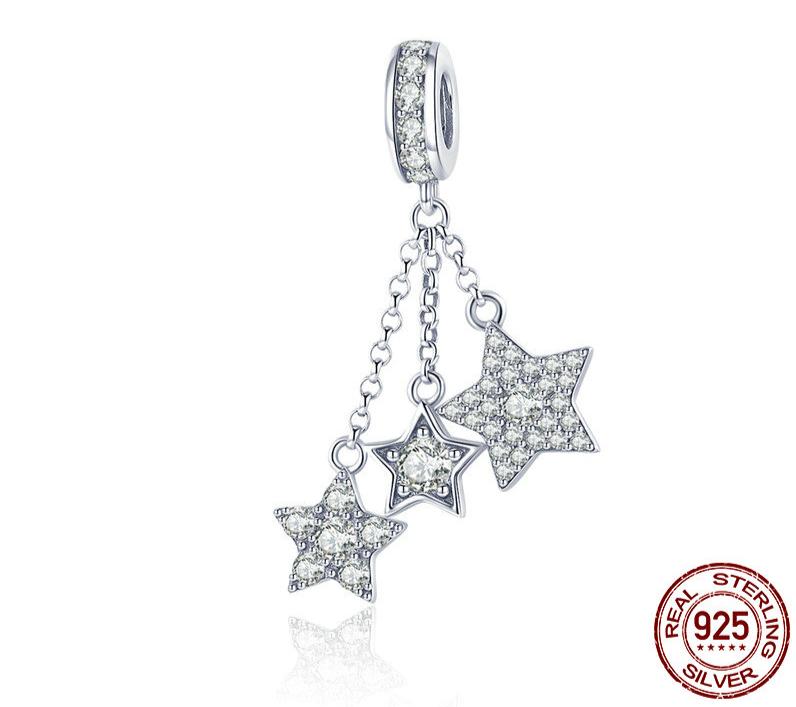 Charm Pendentif CONSTELLATION - Argent 925 - Zircon - Pour bracelet &  Collier