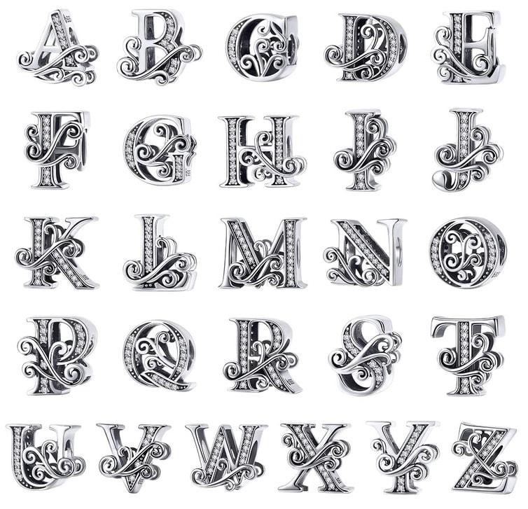 pandora charms lettre p