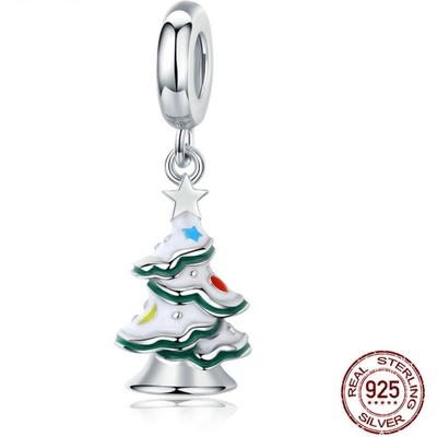 Charm pendentif - ARBRE de NOEL - Argent S925 - Pour bracelet et collier
