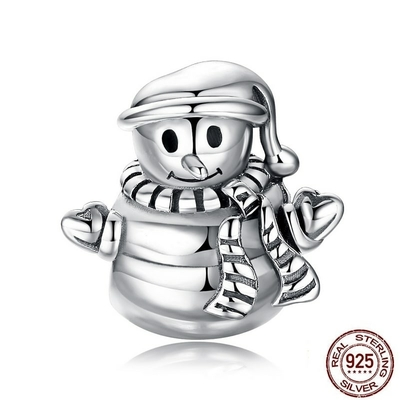 Charm BONHOMME de NEIGE - Argent S925 - Pour bracelet