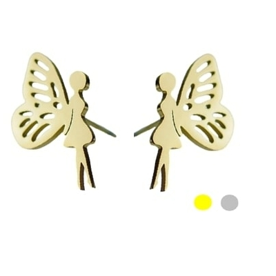 Puces Boucles d'oreilles - FÉE - Acier Inoxydable - Or ou Argent - bijou Ikita Paris