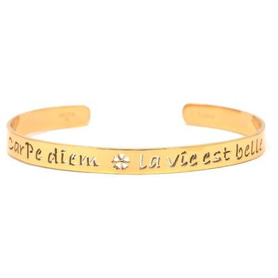 Bracelet Message - CARPE DIEM - LA VIE EST BELLE - Acier Inoxydable - Ikita Paris