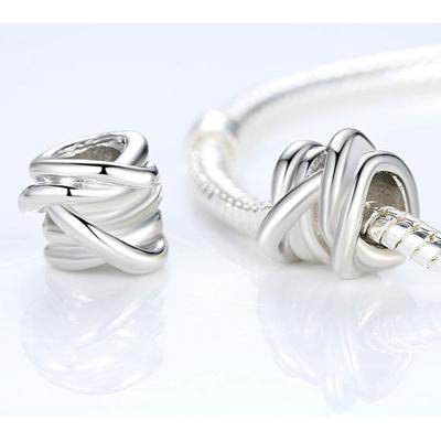 Charm NŒUD TRESSÉ - Plaqué Argent 925 - Pour bracelet & collier