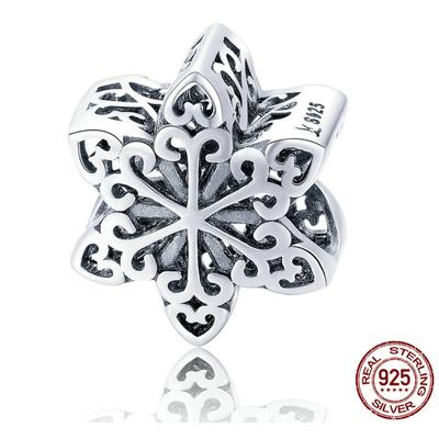 Charm FLOCON - Argent 925 - Pour Bracelet & Collier