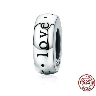 Pendentif/Espaceur LOVE YOU FOREVER - Argent 925 - Pour bracelet & Collier