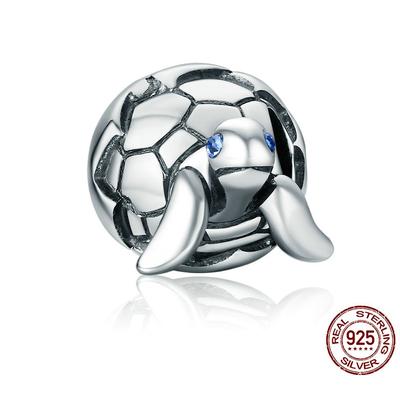 Charm BÉBÉ TORTUE - Argent S925 - Zircon Cubique - Pour bracelet - Bleu