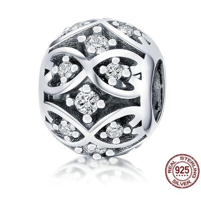 Charm HARMONIE - Argent 925 - Zircon Cubique - Pour bracelet & Collier