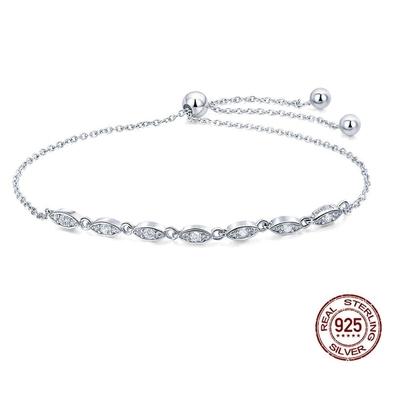 Bracelet coulissant DIADÈME - Argent S925 - Zircon Cubique - 25 cm