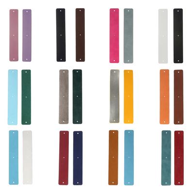 CUIRS & VINYLES Réversibles - Pour bracelets manchettes interchangeables - 25 mm - 26 coloris