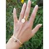 Bracelet jonc message - MOI, SIMPLEMENT...PARFAITE ! - Acier Inoxydable - bracelet avec pendentif étoile - Or ou Argent – Ajustable – Ikita Paris