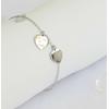 Bracelet minimaliste gravé 3 cœurs - LA VIE EST BELLE - Finition Or ou Argent - Ajustable - 15 cm + 3 cm - Fin - Ikita Paris
