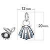 Charm Pendentif Coquille saint jacques et sa perle d'eau douce – argent sterling 925 – compatible pandora