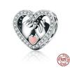 Pendentif Charm POUR LA VIE - Argent Sterling 925 - pour bracelet Pandora