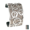 Manchette Bracelet Interchangeable - BULLE - Acier Inoxydable - ajustable - 40 mm + 1 CUIR RÉVERSIBLE OFFERT - bronze