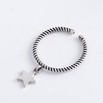 Bague avec pendentif étoile en argent sterling 925