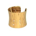 Bracelet Manchette Large - POLOMA -  Acier Inoxydable - Effet Brossé Ajouré - 50 mm - Ikita Paris3-min