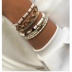 bracelet multirangs chance amour - acier inoxydable - ikita paris - blanc-min