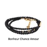 bracelet multirangs chance amour - acier inoxydable - ikita paris - noir-DN